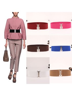 4ec34d3ad Product Image Women's Fashion Elastic Cinch Belts 10Inch Wide Stretch Waist  Band Clasp Buckle