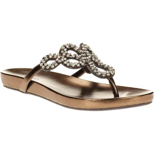 Mo Mo Women's Julie Beaded Thong Sandals