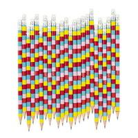 Yoobi Rainbow Stripes No. 2 Pencils, 24 Pack