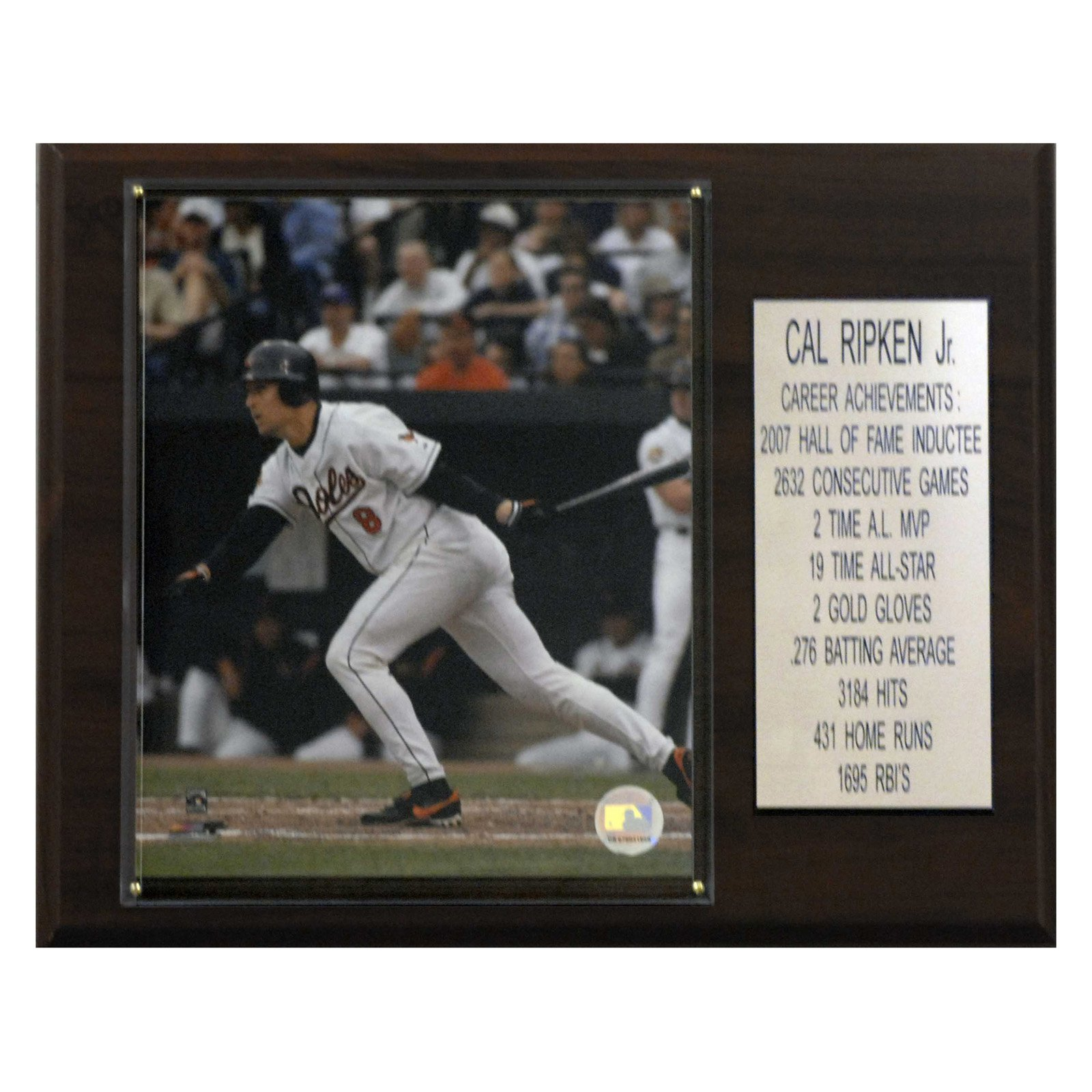 C&I Collectables MLB 12x15 Cal Ripken Jr. Baltimore Orioles Career Stat Plaque