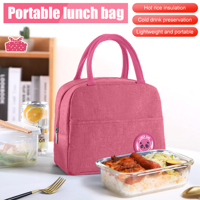 Lunch Bag Women Men Thermal Insulated Lunch Box Tote Portable Picnic Storage Bag
