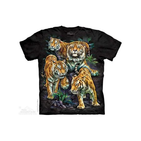 The Mountain Bengal Tiger Collage Adult T-Shirt - Tiger Outfits For Adults