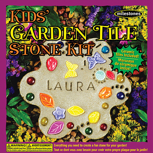 MilestonesKids Garden Tile Stepping Stone Kit Multi-Colored