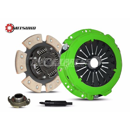 Clutch Kit works with Hyundai Elantra Tiburon GLS Gs GT Limited Base FX Wagon Coupe 1996-2008 1.8L 2.0L l4 GAS DOHC Naturally Aspirated (6-Puck Disc Stage