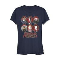 Addams Family Juniors' Portrait Panels T-Shirt