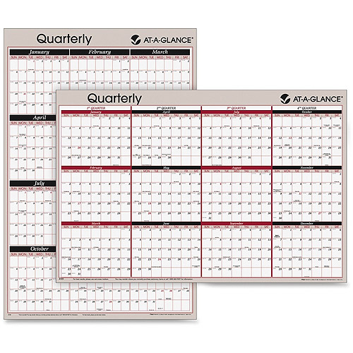 AT-A-GLANCE 2-Sided Wet-Erase Yearly Wall Calendar by Mead Westvaco