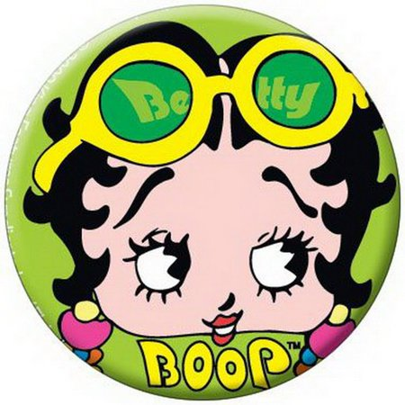 Betty Boop Glasses Button 81515