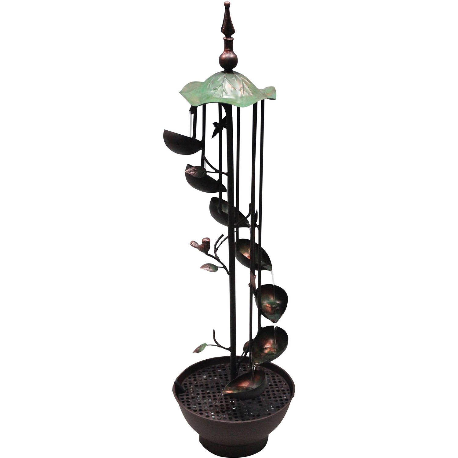 "38"" Six-Leaf Tier in Rotational Pattern Floor Fountain by Alpine Corporation"
