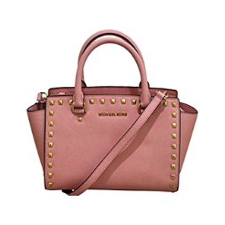 853b8bc72023d8 Michael Kors - Selma Stud Saffiano Leather Medium Top Zip Satchel - Pale  Pink - Walmart.com