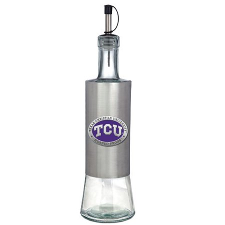TCU Horned Frogs Colored Logo Pour Spout Stainless Steel - Colored Horn