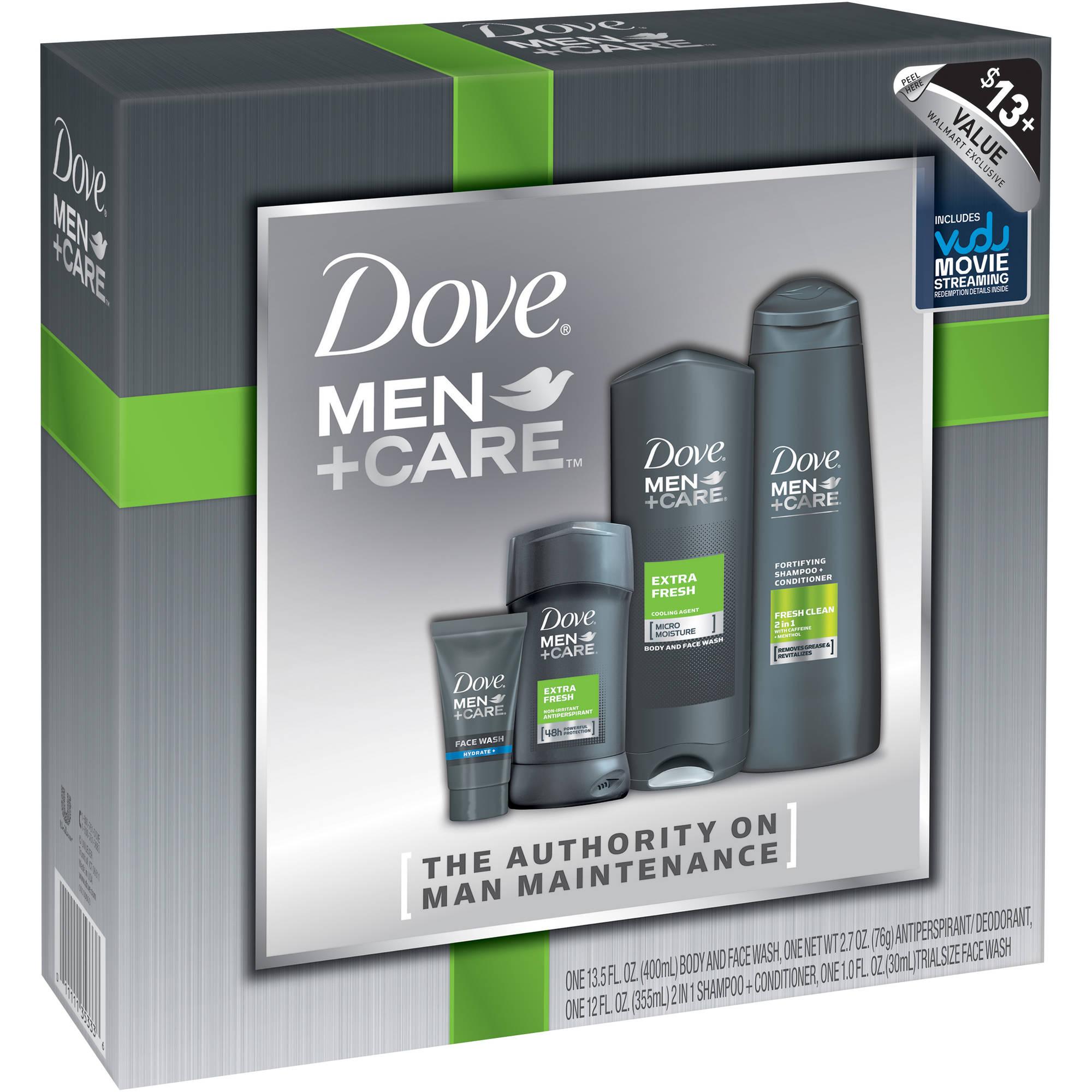 Dove Men+Care Gift Set, 4 pc