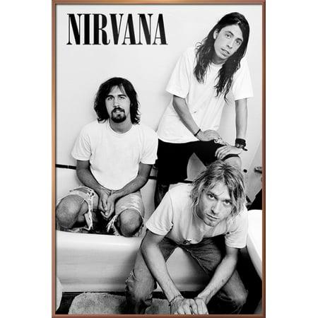 Nirvana - Framed Music Poster / Print (The Guys B&W - Kurt Cobain ...