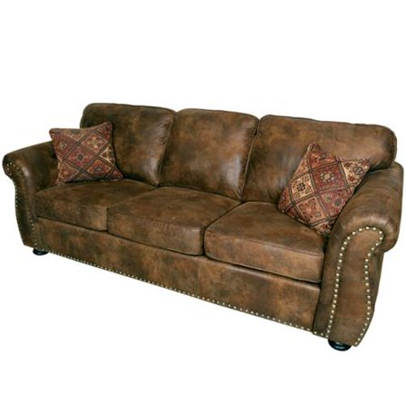 Porter Elk River Brown Microfiber Faux Suede Leather Sofa
