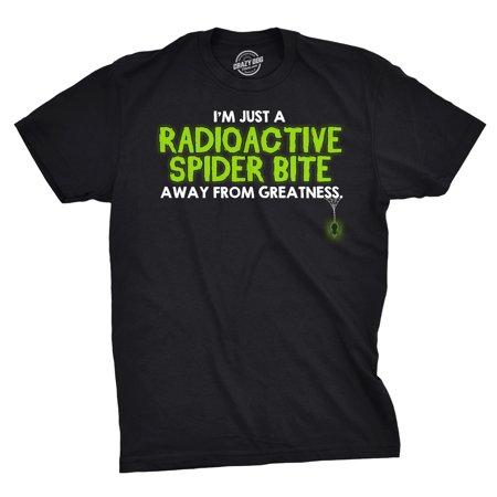 Radioactive Superhero (One Radioactive Spider Bite Away T Shirt Funny Sarcastic Superhero)