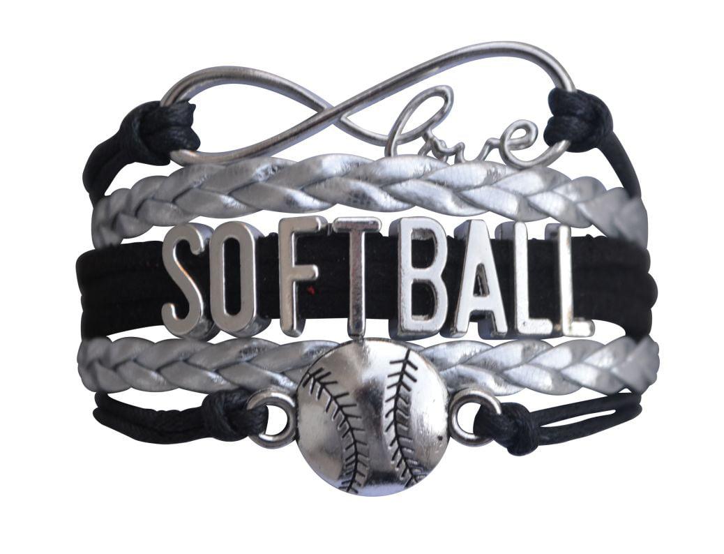 Softball Bracelet- Girls Softball Jewelry Perfect Softball Player, Softball Teams and Softball Coaches Gitfts by
