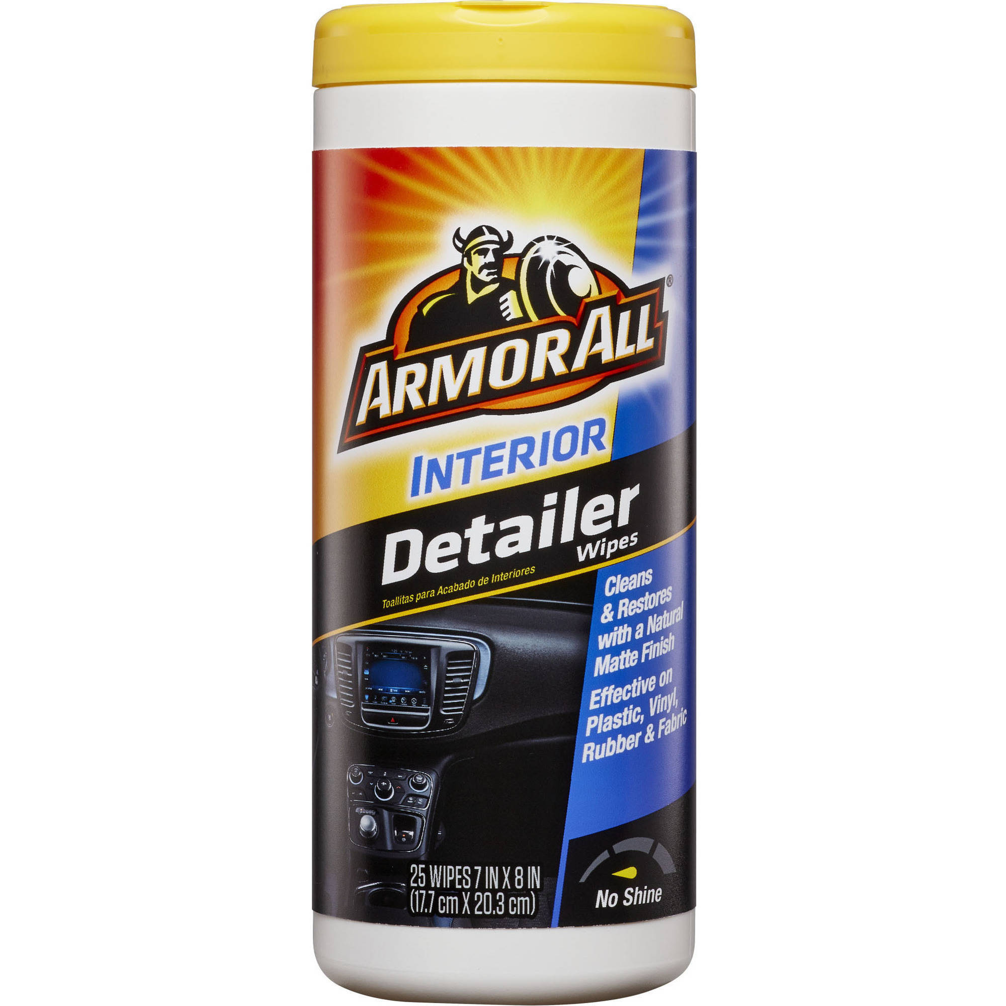 Armor All Interior Detailer Wipes, 25 count, Car Cleaning