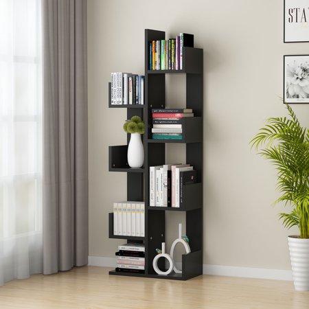 Tribesigns 8 Shelf Tree Bookshelf Modern Bookcase Book Rack Display Storage Organizer Shelves For
