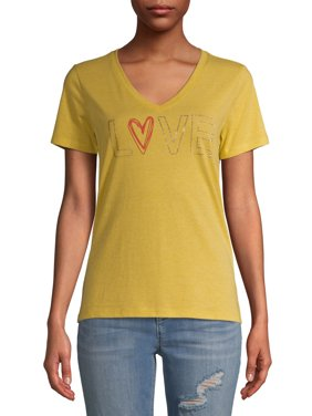 EV1 from Ellen DeGeneres Women's Studded Love T-Shirt