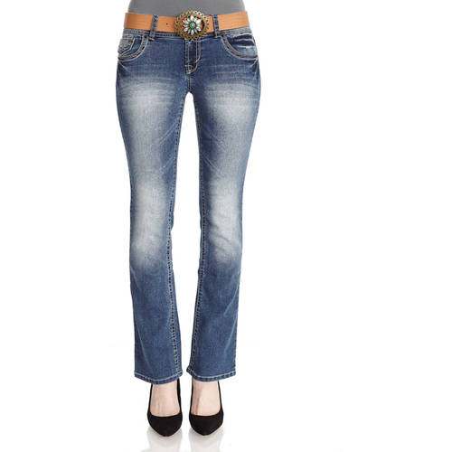 No Boundaries Juniors Belted Curvy Bootcut Jeans - Walmart.com