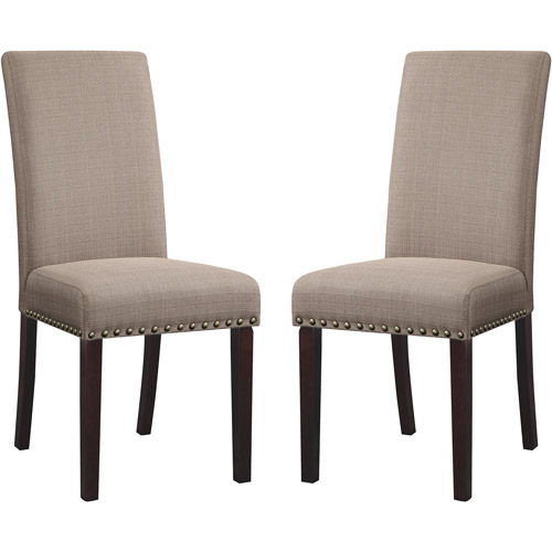 dhi nice nail head upholstered dining chair, set of 2, multiple