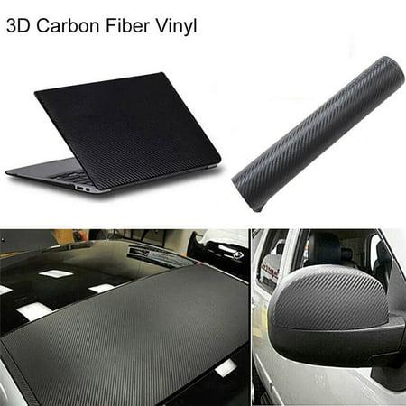 - Black Fashion 3D Carbon 127*20cm Fiber Vinyl Sticker For Motorcycle Car pod