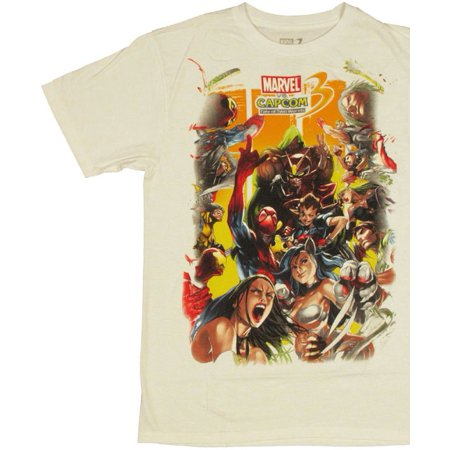 Marvel vs Capcom 3 Sides T Shirt Sheer