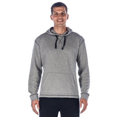 Noble Mount Mens Solid Thermal Lounge Hoodie - with Contrast Stitching