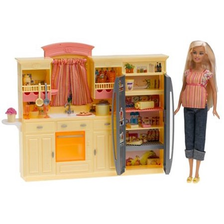 Barbie Play All Day Kitchen Set With Doll