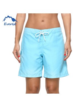 Women's Swim Boardshorts Tankini Boyshorts Beach Bottom Solid Color Elasticated Lace Shorts Swimsuit