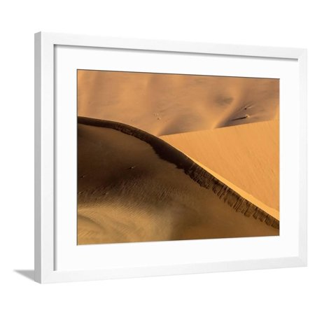 Namibia, Namib-Naukluft Park. Abstract of Side-Lit Sand Dunes Framed Print Wall Art By Wendy (Best Side By Side For Sand Dunes)
