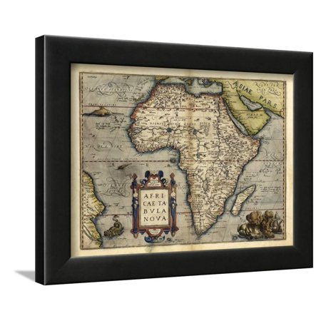 Ortelius's Map of Africa, 1570 Framed Print Wall Art By Library of Congress