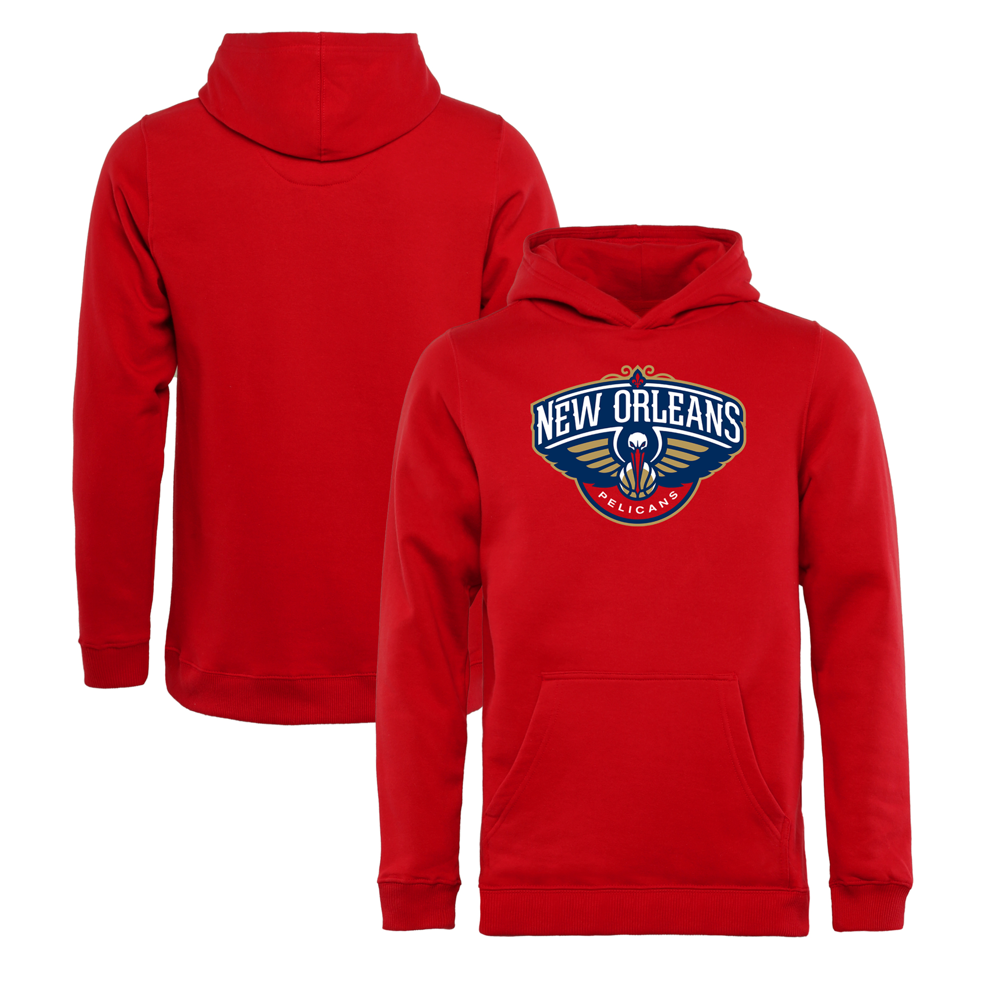 New Orleans Pelicans Fanatics Branded Youth Primary Logo Pullover Hoodie - Red