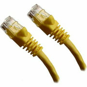Professional Cable 10' Gigabit Ethernet UTP Cable with Boots, Yellow