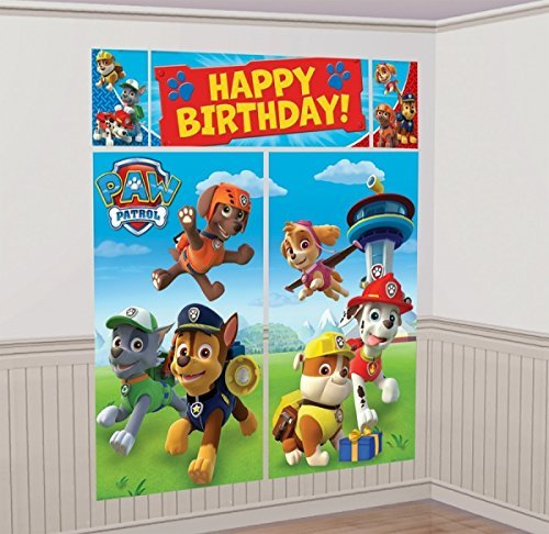 Scene Setter Wall Decorations Kit - Kids Birthday and Party Supplies Decoration By Paw Patrol