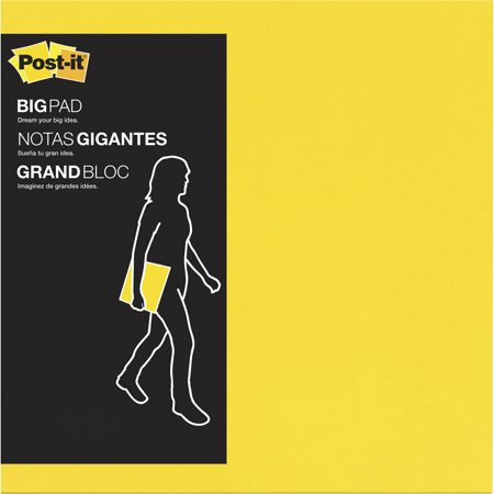 Post it super sticky big note yellow 11 x 11 30 count walmart com