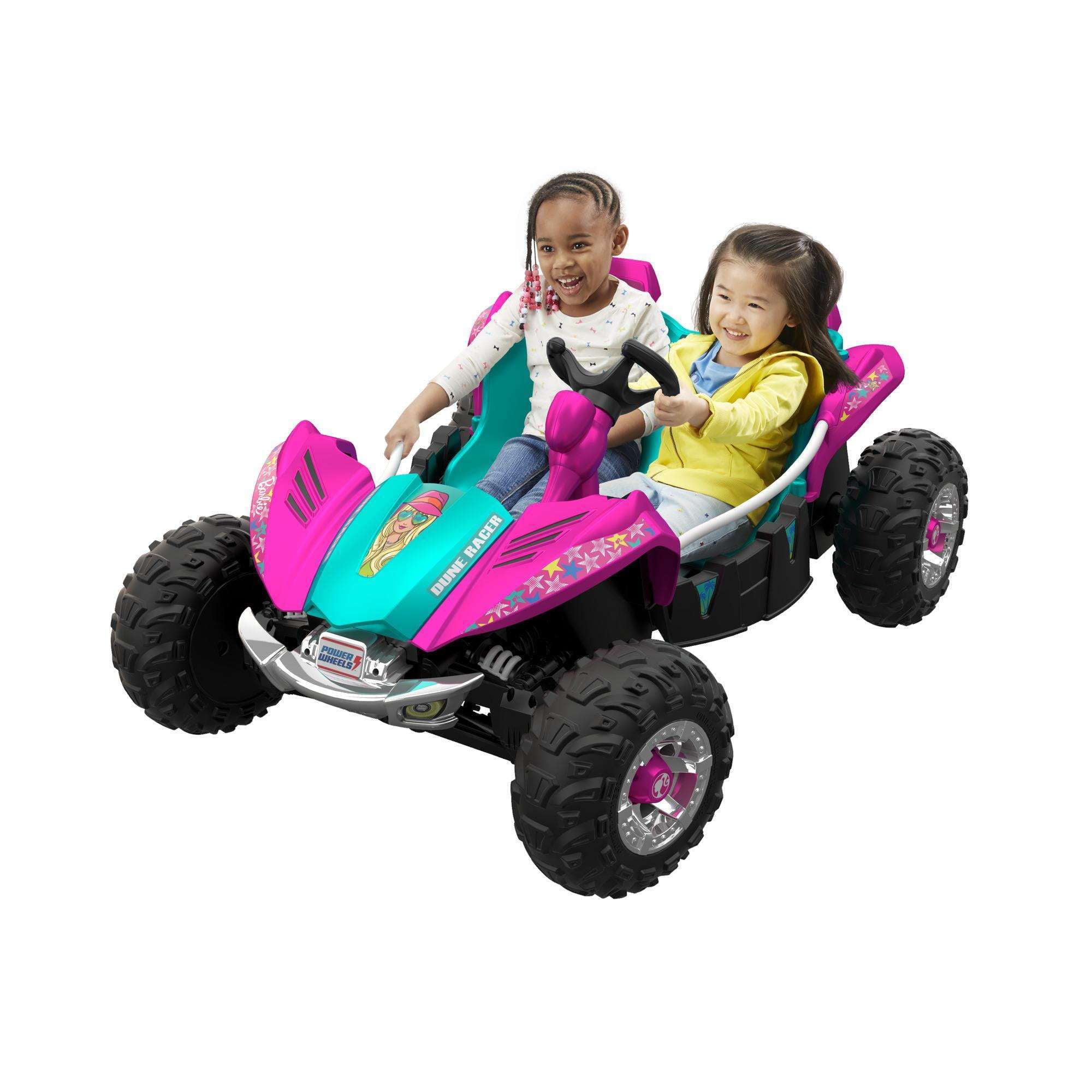 Power Wheels Barbie Dune Racer Ride-On Vehicle, Teal & Pink
