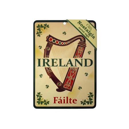 Irish Harp Symbol (Irish Harp Nostalgia Metal Sign 21x15cm )