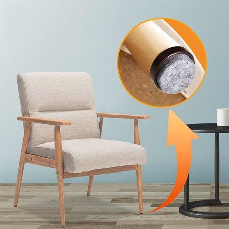Nail On Furniture Felt Pads Glide Chair Table Leg Protector 24mm Dia White 16pcs - image 4 de 5
