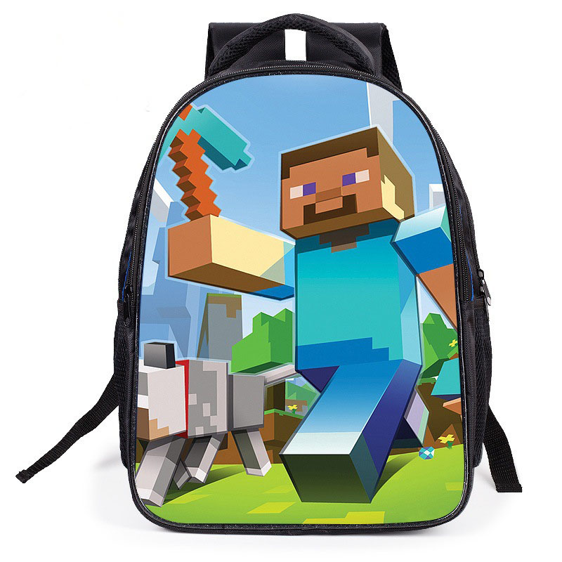 "Smarit Cartoon Schoolbog Minecraft 12"" Kids Mini Backpack by"