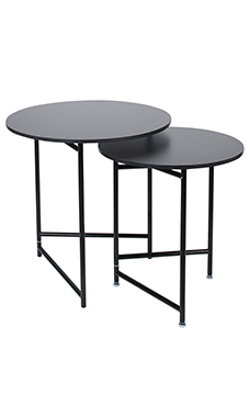 Superbe Nesting Tables   Round   Black (Display Tables)