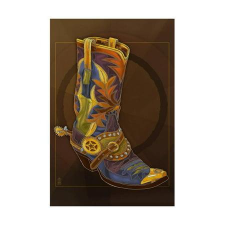 Western Themed Events (Cowboy Boot Western Theme Art Print Wall Art By Lantern)