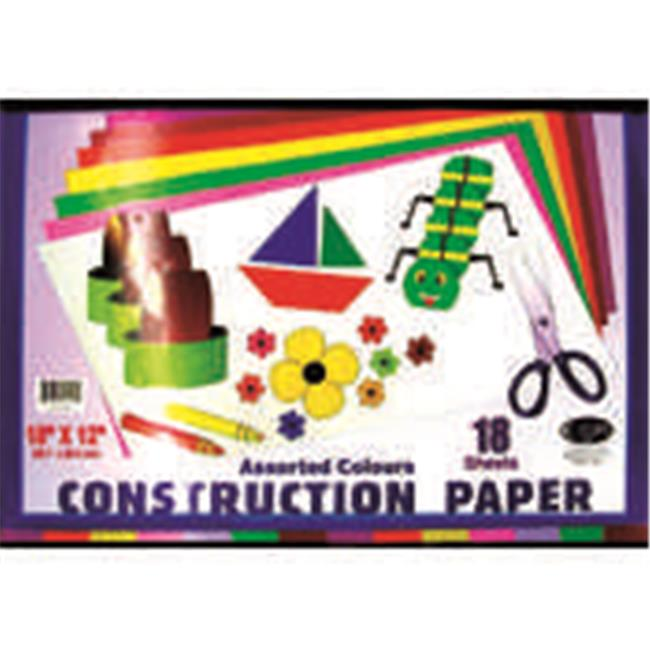 """Construction Paper Pad - 18Sheets- 12"""""""" x 18"""""""" Case Pack 48"""