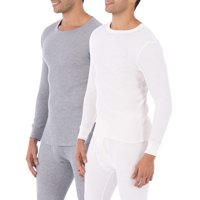 2-Pk Fruit of the Loom Mens Classic Thermal Underwear Crew Top