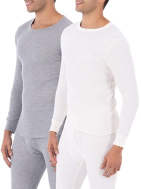 48b07c08 Product Image Fruit of the Loom Big Mens Classic Thermal Underwear Crew Top,  Value 2 Pack