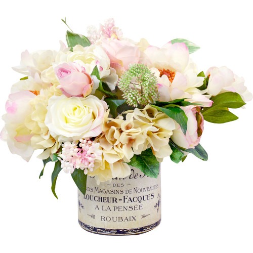 Creative Displays, Inc. Peony and Hydrangea French Label Pot