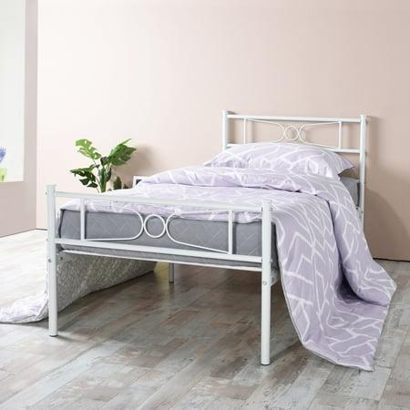 Easy Setup Bedroom Metal Bed Frame Platform Base Mattress Foundation Twin