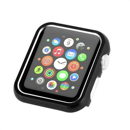 Aluminum Metal Cover Bumper Case for Apple Watch Series 4, 44mm Black #5C4