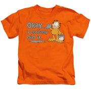 Garfield I Probably Did It Little Boys Shirt