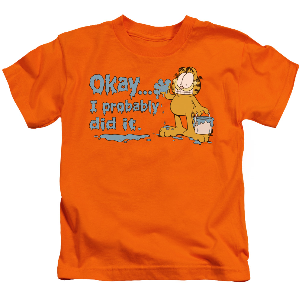 Garfield I Probably Did It Little Boys Shirt