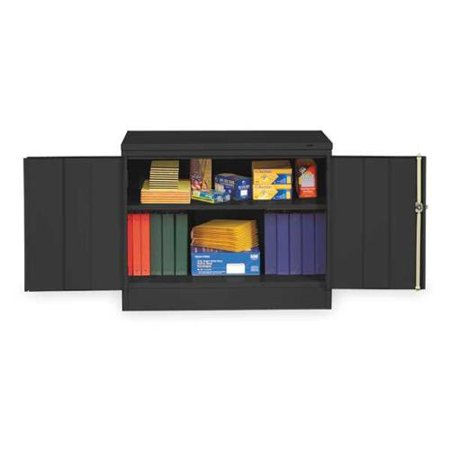 TENNSCO 3018BK Desk Storage Cabinet,Welded,Black